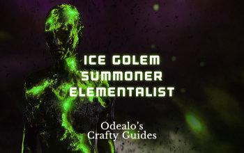Ice Golem Elementalist End-game summoner build