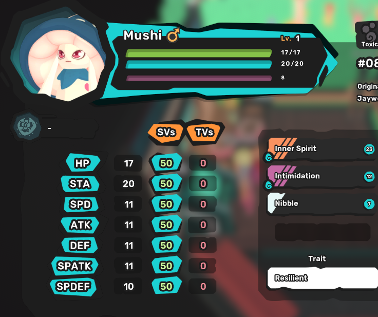 Mushi - Resilient - All Egg Moves - Perfect SV 7/7 - Level 1 - Instant Delivery