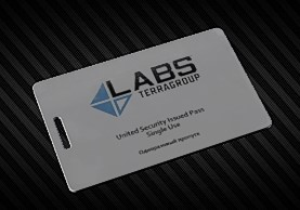 TerraGroup Labs access keycard..