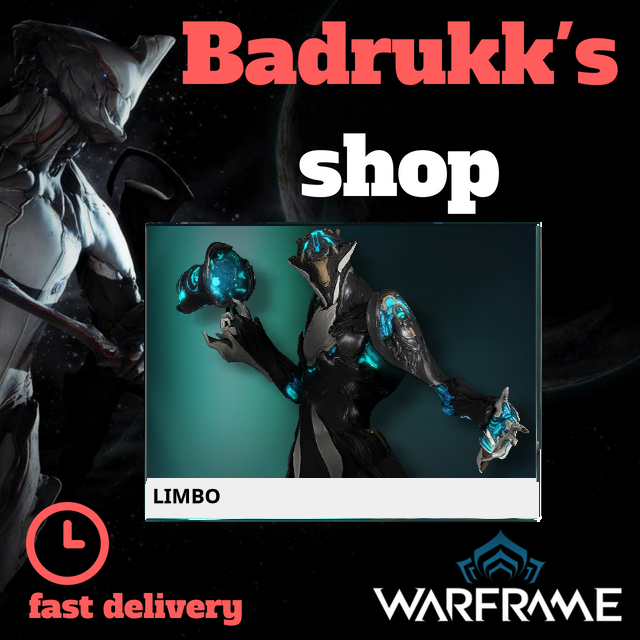 [PC/Steam] Limbo Warframe + Slot + Orokin Reactor // Fast delivery!