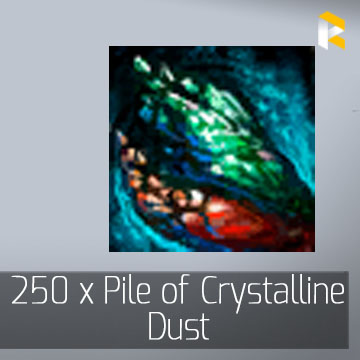 250 x Pile of Crystalline Dust - Guild Wars 2 EU & US All Servers - fast & safe
