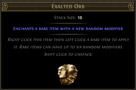 EXALTED ORB FAST DELIVERY VERY CHEAP - STANDART LEAGUE