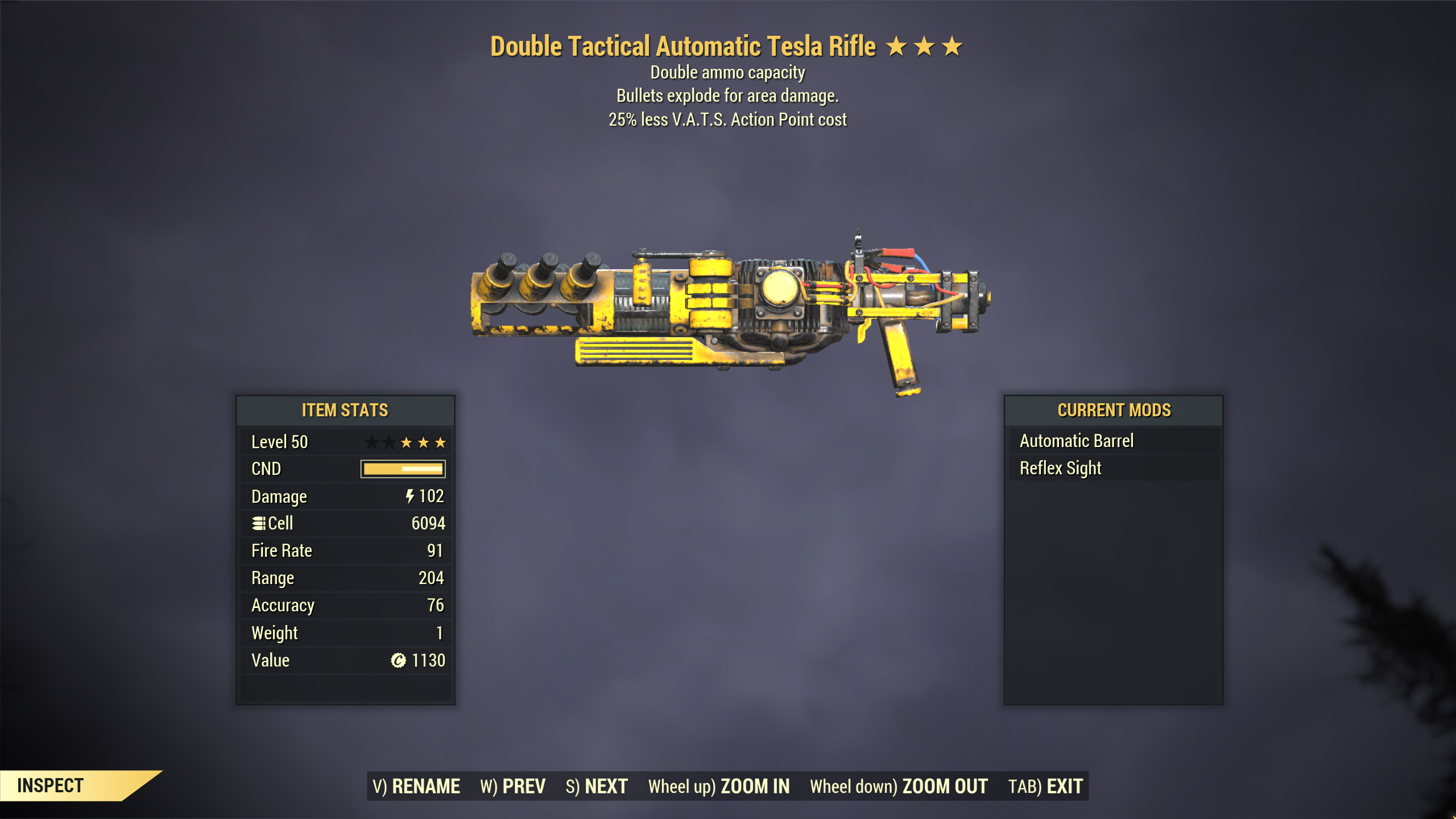 [Epic Rarity]★★★ Double Explosive Tesla Rifle [25% Less VATS] | FAST DELIVERY |