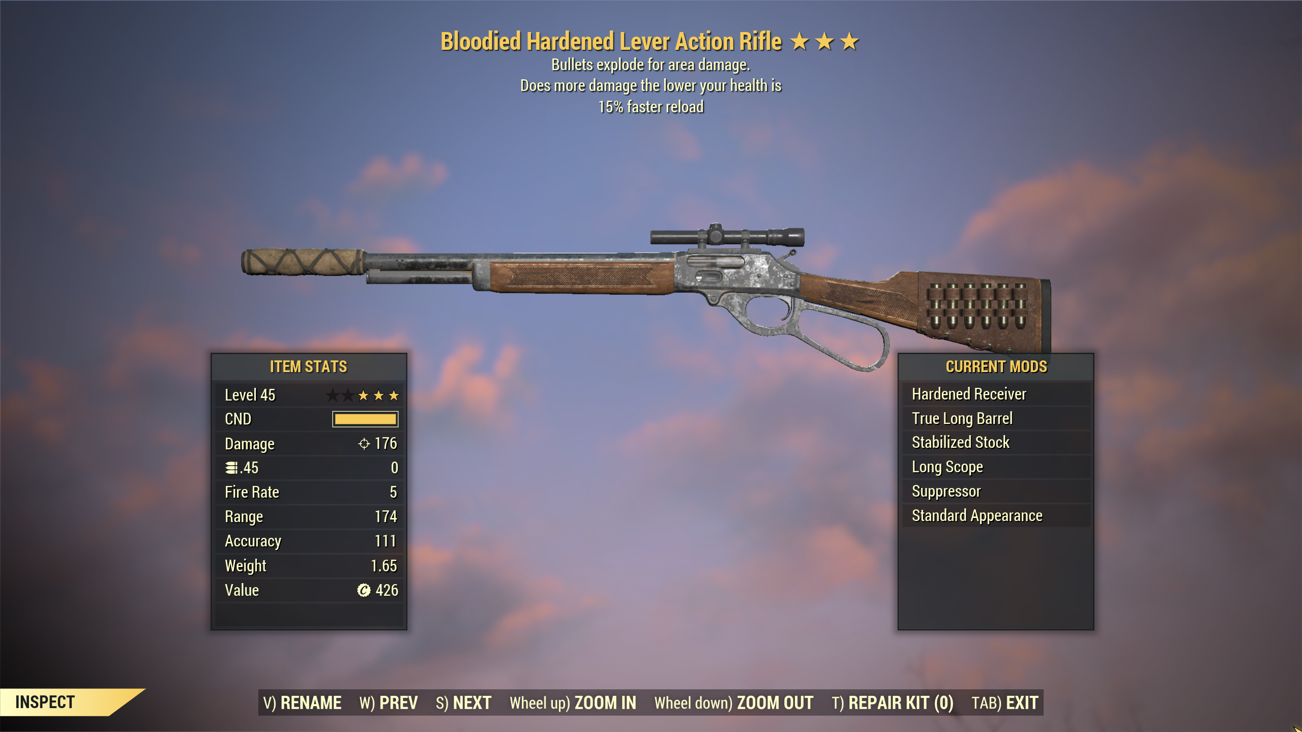 ★★★ Bloodied Explosive Lever Action Rifle[15% Faster Reload] | FULLY MODIFIED | FAST DELIVERY |