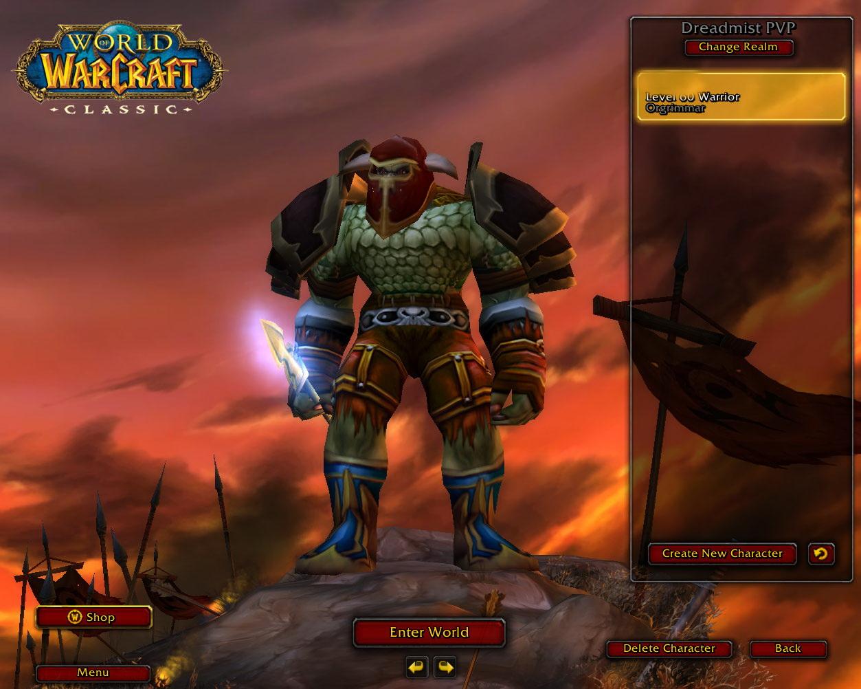 EU Classic account. Lvl 60 Warrior. Gold: 52. 5 BiS items! Attunements:Mara, PVP Rank 2. Mount:60%