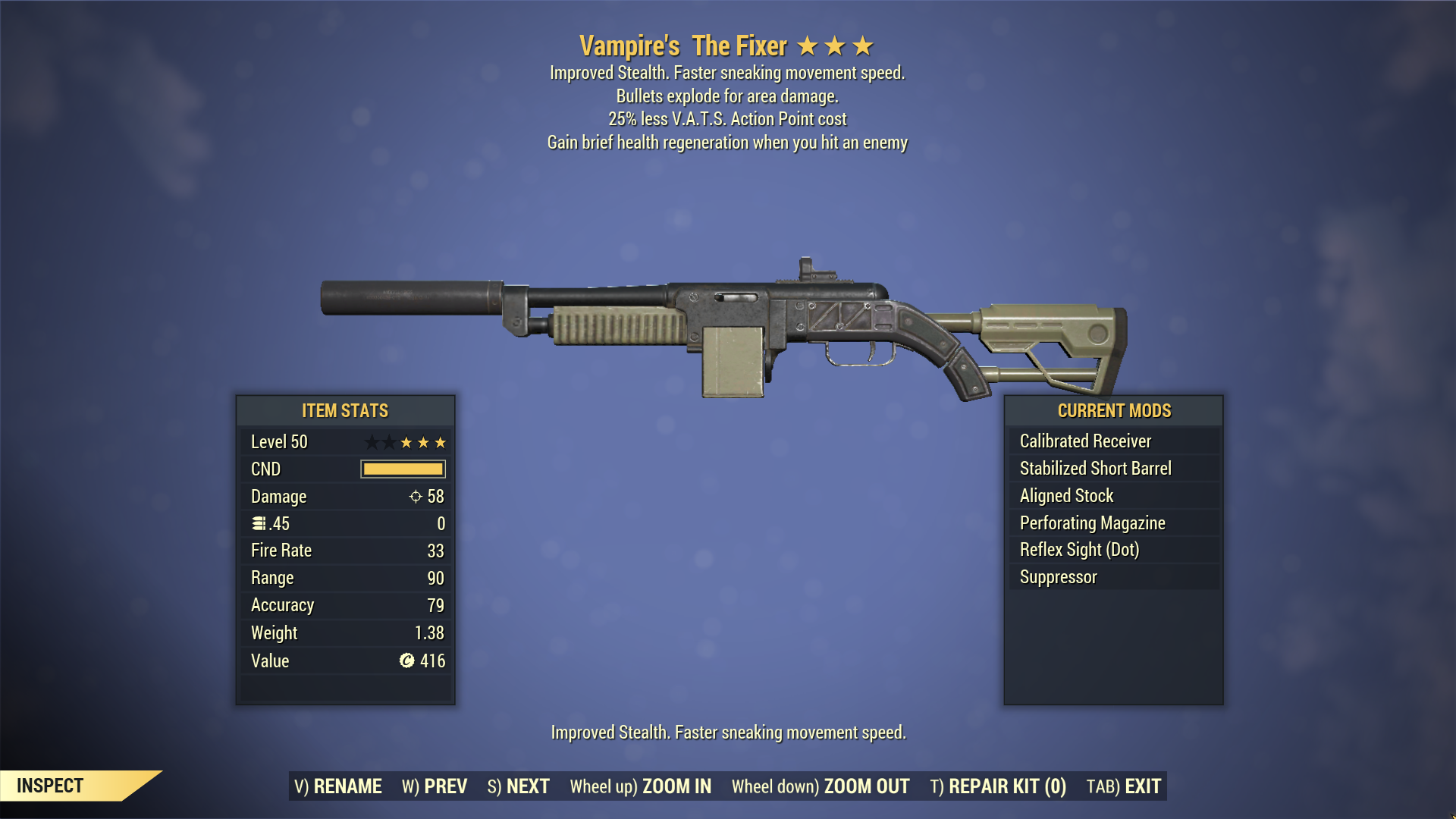 ★★★ Vampire's Explosive The Fixer [25% LESS VATS] | FAST DELIVERY |