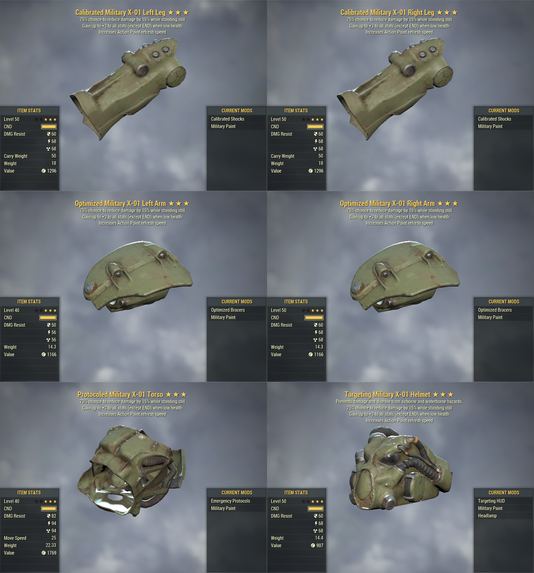 [Unyielding Sentinel 6 AP REFRESH]  X-01 PA Set