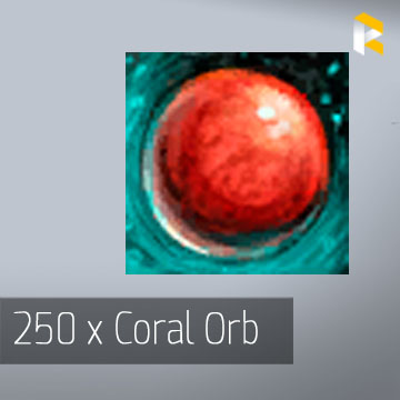 250 x Coral Orb
