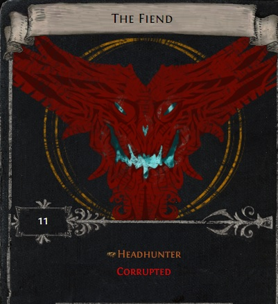 [Harvest] The fiend - divination card for corrupted headhunter // instant delivery!