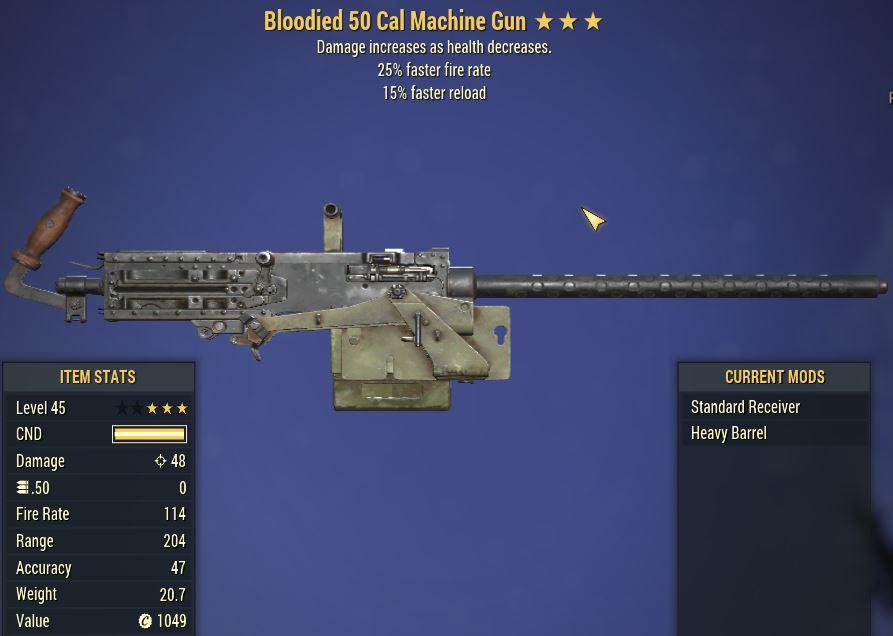 [PC] Bloodied 50 Cal MG [25FFR | 15FR]
