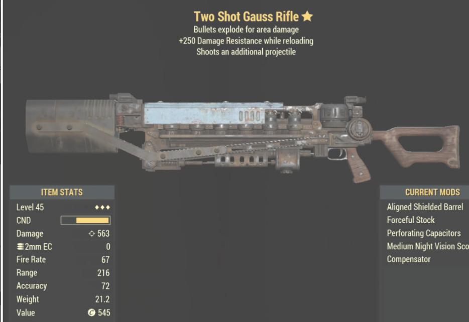 Two Shot Gauss Rifle- Level 45