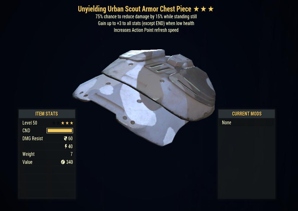[PC] Unyielding Sentinels Armor FULL SET + MASK (Urban Scout, 5/5 AP)