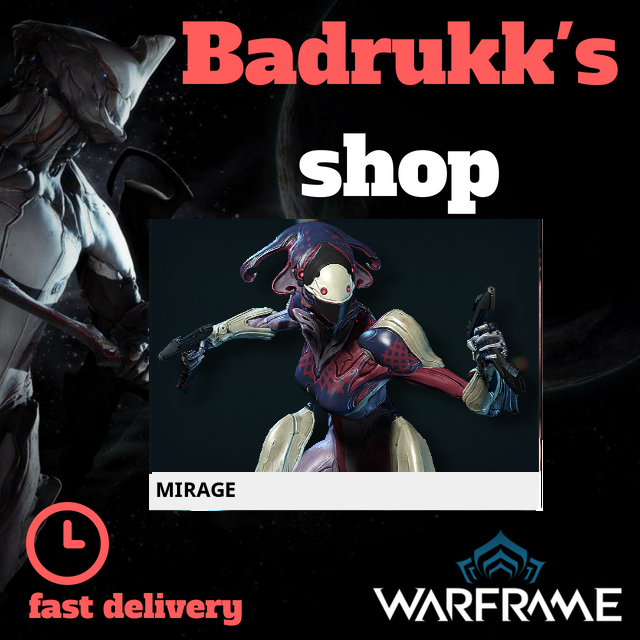 [PC/Steam] Mirage Warframe + Slot + Orokin Reactor // Fast delivery!