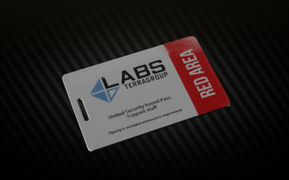 Lab. Red Keycard (Security Arsenal) + arsenal storage room key bonus