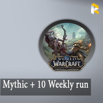 Mythic + 10 Weekly run