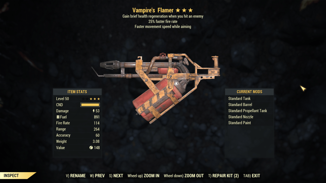 ★★★ Vampires Flamer[25% Faster Fire Rate]   FAST DELIVERY  