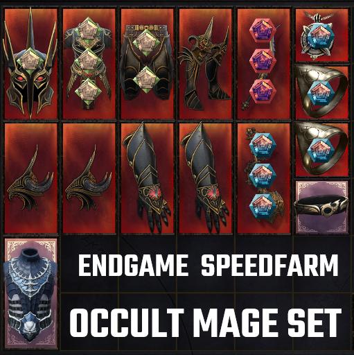 Full Endgame Set | Occult Mage Speedfarm | 187 Untainted under 2 minutes | 15 PERFECT Items