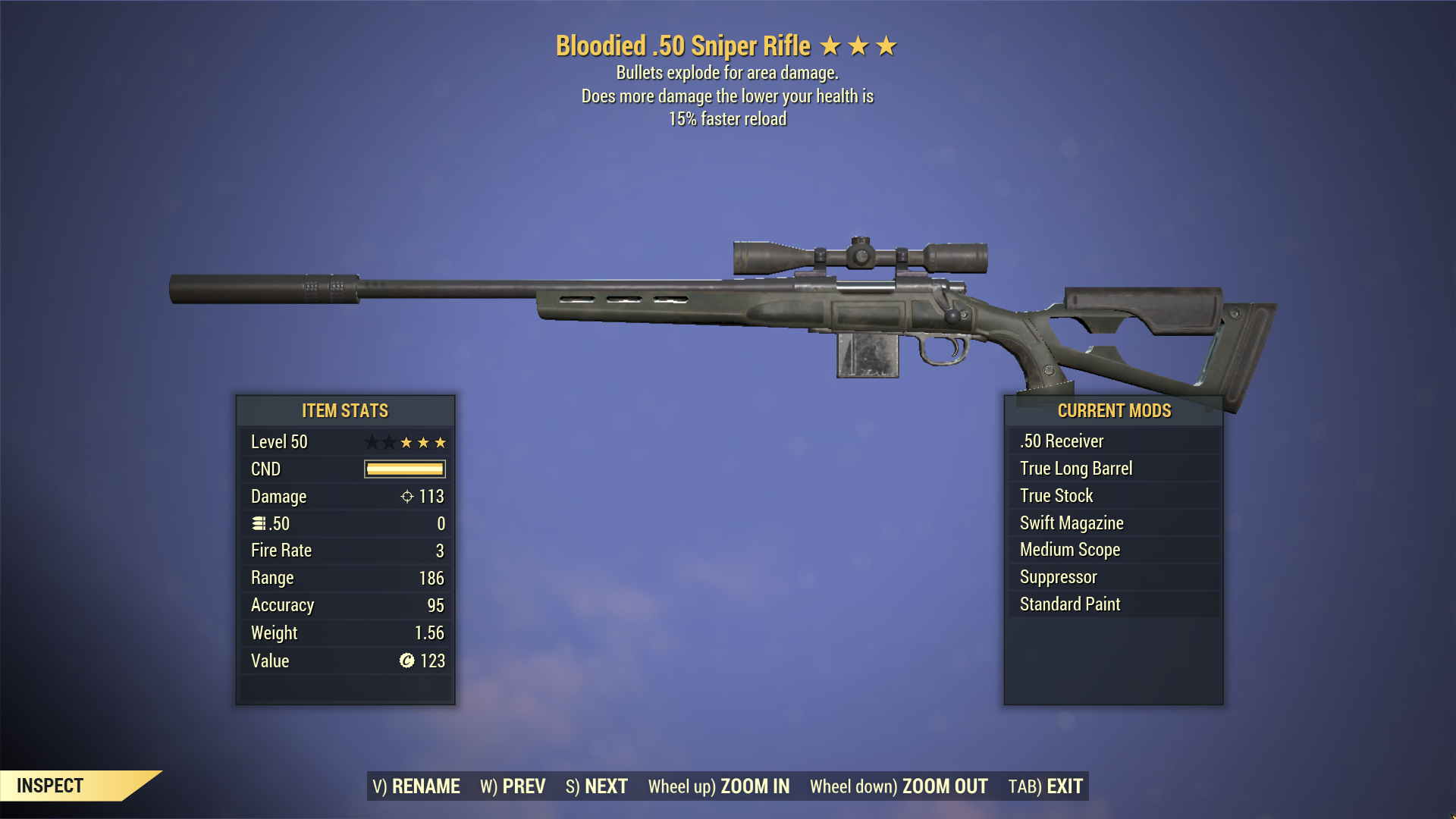 ★★★ Bloodied Explosive Sniper Rifle[15% FASTER RELOAD] | Fully Modified | MAX LVL | FAST DELIVERY |