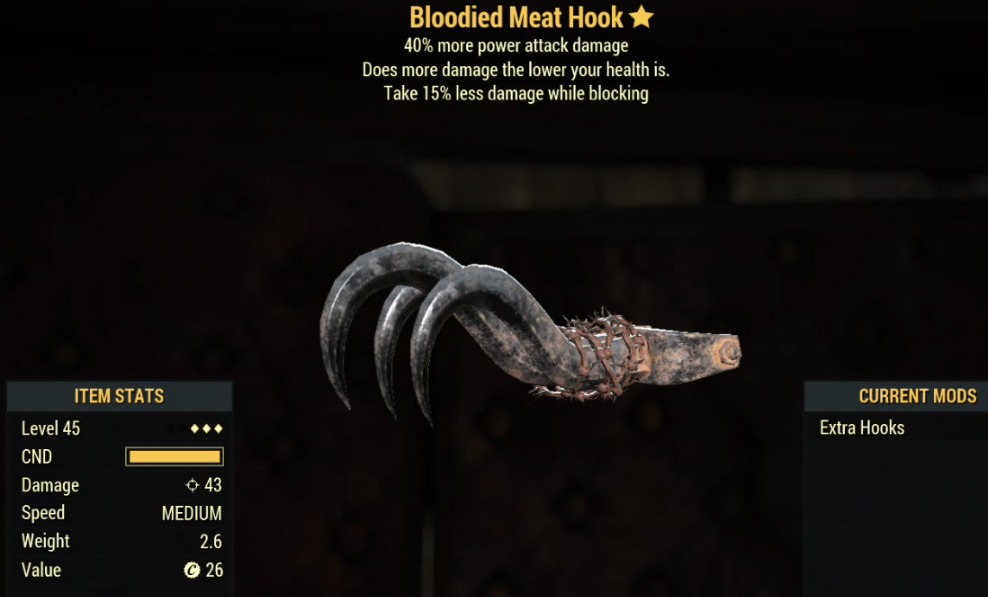 Bloodied Meat Hook- Level 45