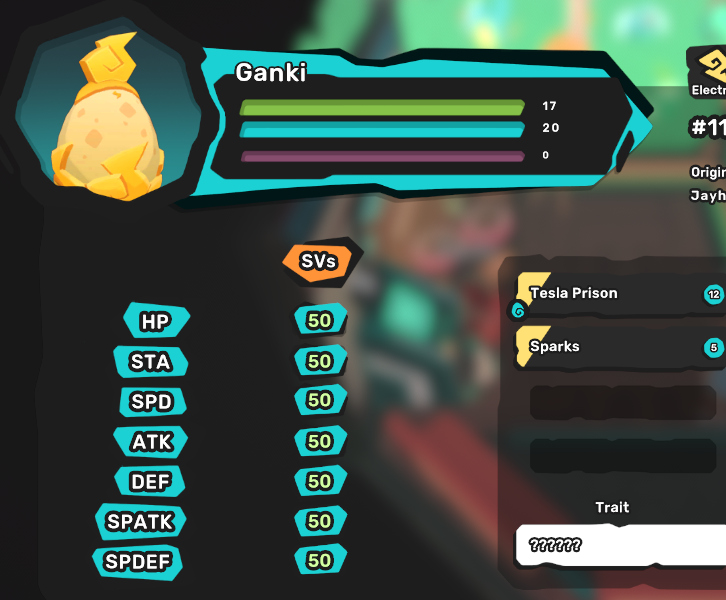 Ganki/Gazuma Egg - Perfect SV 7/7 - All Egg Move - Chance of Luma - Your Own Original Tamer Name