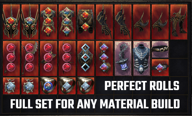 25 PERFECT Items | Full Endgame Set for any Material Damage Build | Max DMG Weapons | Max Crit DMG