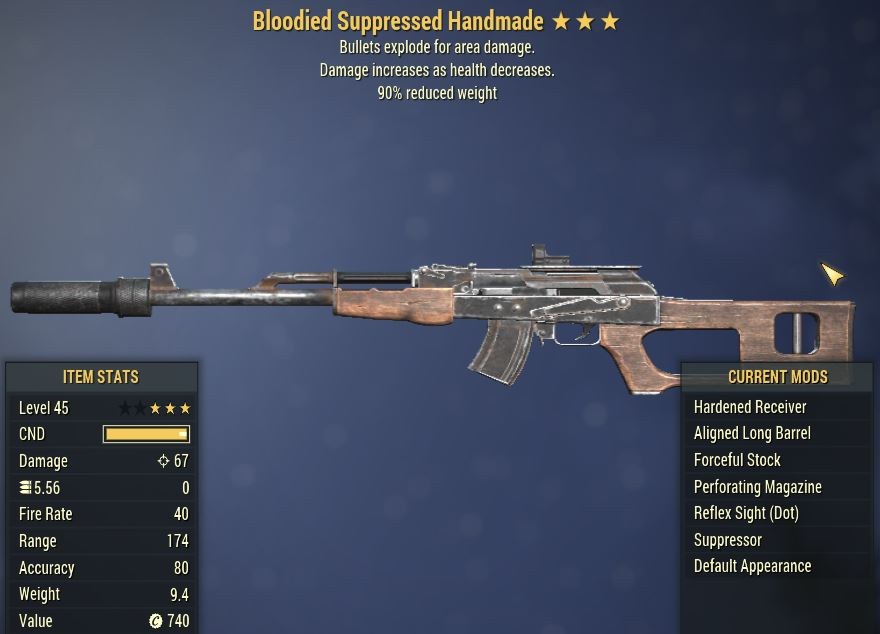 [PC] Bloodied Explosive  Handmade [90WR]