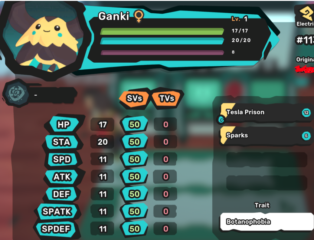 Ganki/Gazuma - Botanophobia/Cold-Natured - Perfect SV 7/7 - All Egg Moves - Instant Delivery