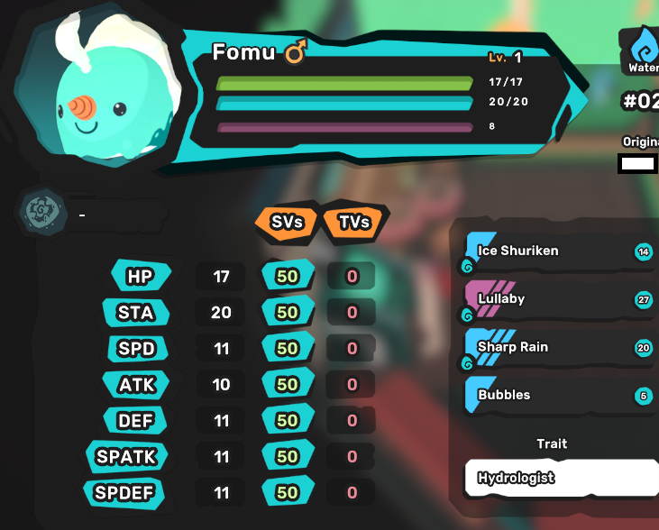 Fomu - Hydrologist - All Egg Moves - Perfect SV 7/7 - Level 1 - Instant Delivery