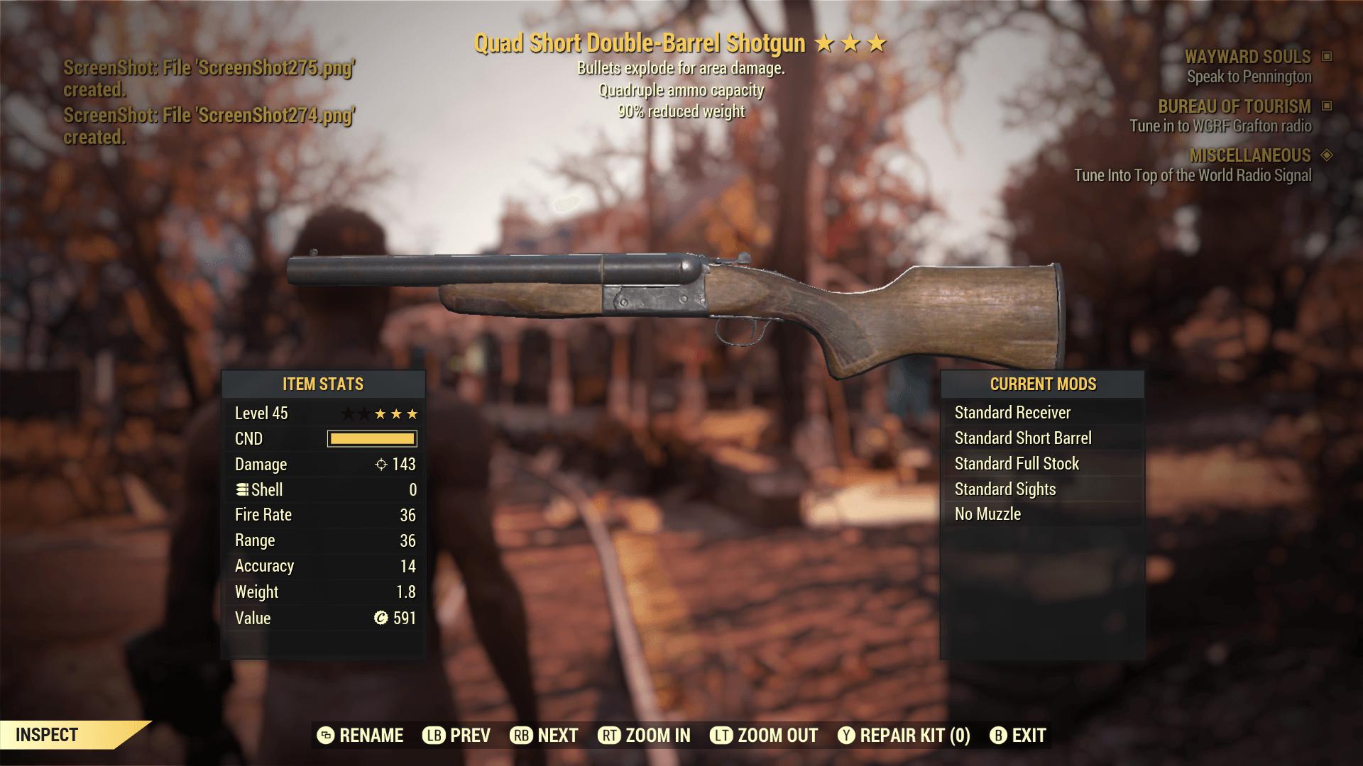 Quad Short Double-Barrel Shotgun[90% reduced weight]