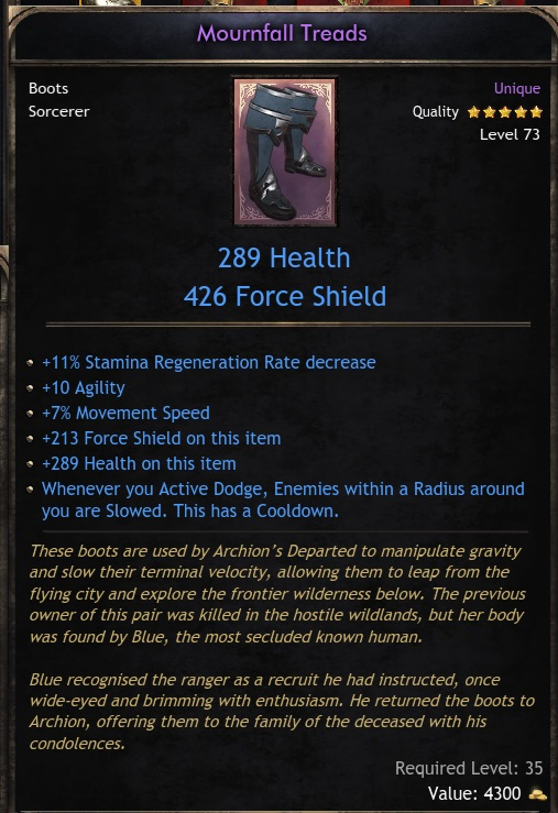 Unique Boots - Mournfall Treads