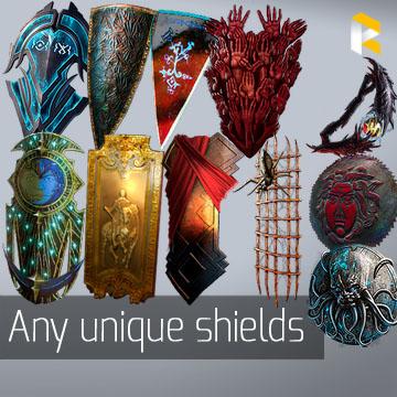 Any unique shields - read description