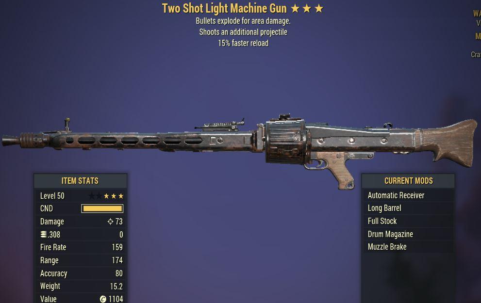 [PC] 2Shot Explosive Short Gatling Gun [15FR]