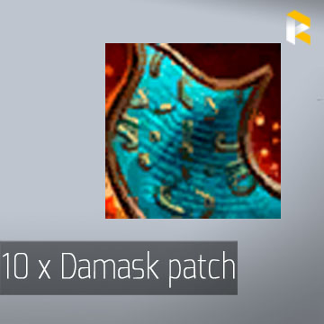 10 x Damask patch