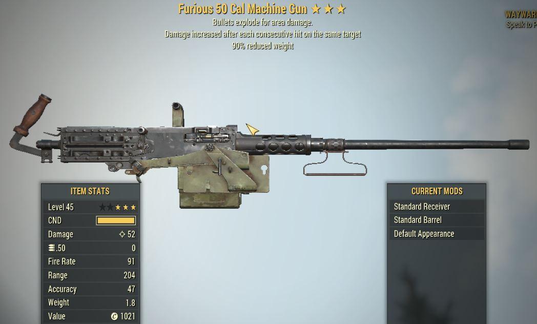 [PC] Furious Explosive 50 Cal MG [90WR]