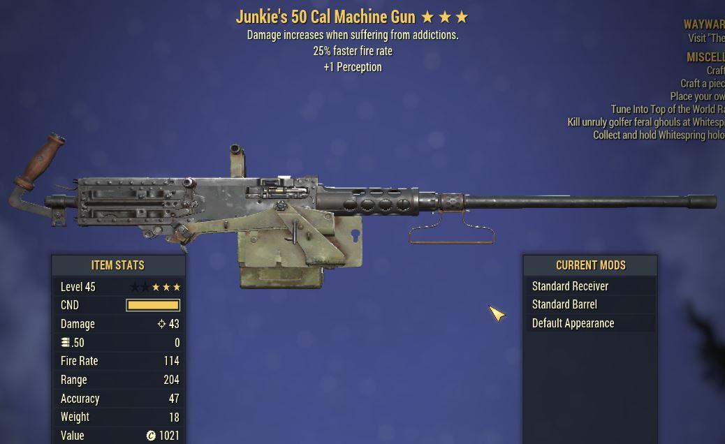 [PC] Junkie's 50 Cal MG [25 FFR   +1 PER]