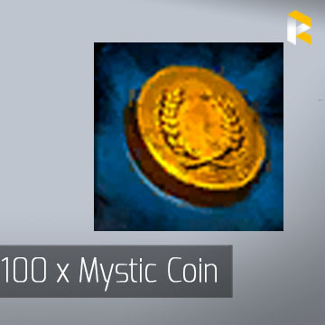 100 x Mystic Coin - Guild Wars 2 EU & US All Servers - fast & safe