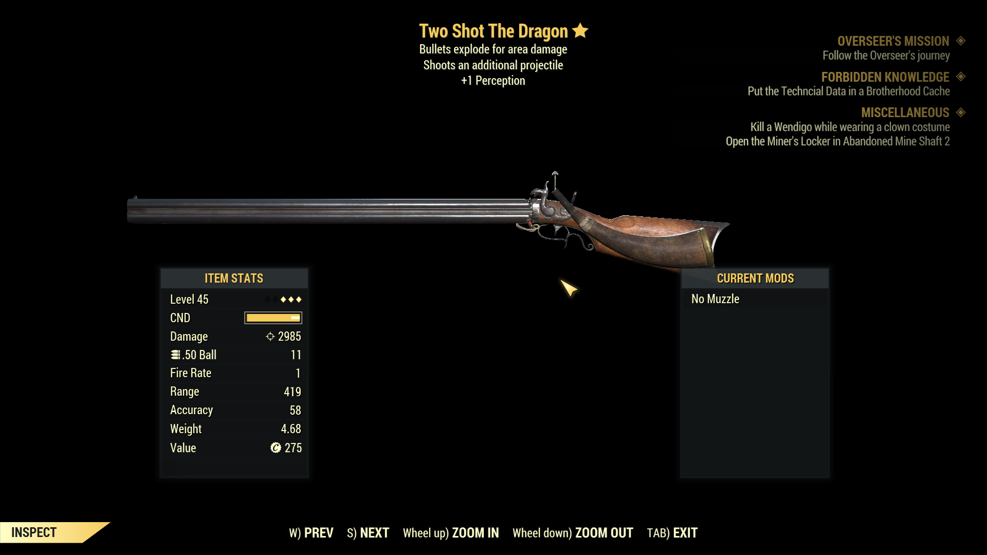 ★★★ Two Shot Explosive The Dragon[+1 PER] | FAST DELIVERY |