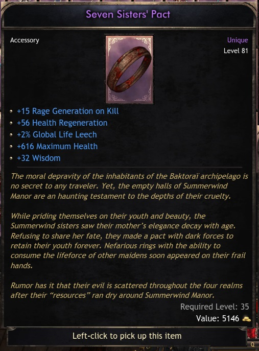 Ring Seven sisters Pact