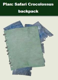 Plan Safari crocolossus backpack