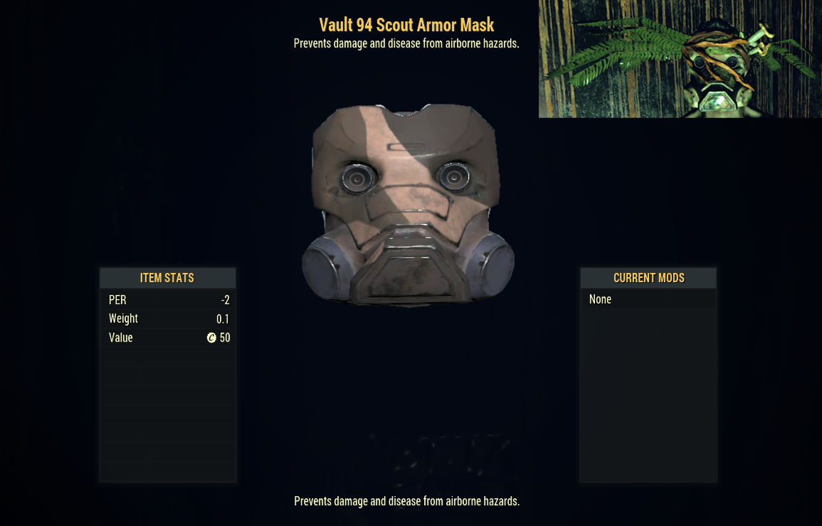 [PC] Vault 94 Urban Scout Armor Mask