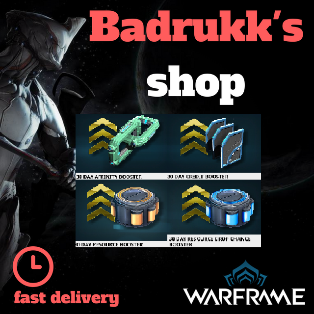 [PC/Steam] 30 days boosters : credits, affinity, resources, resources drop  // Fast delivery!