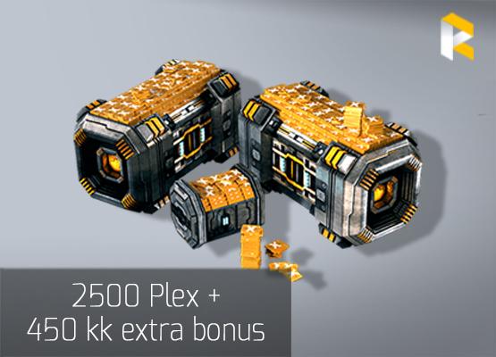 2500 Plex + 450 kk extra bonus