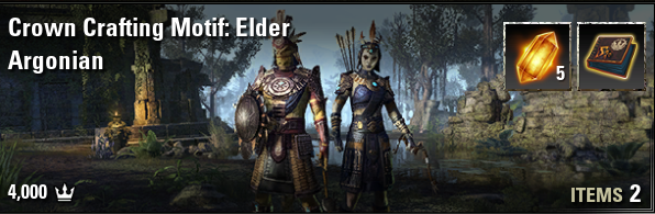 Crown Crafting Motif: Elder Argonian [NA-PC]