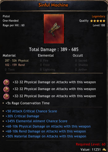 ✅BEST GUN ✅389-685 MAX DAMAGE✅ | 50% ATTACK CRITICAL | 30% CRITICAL DAMAGE | 345 ELEMENTAL AILMENT M
