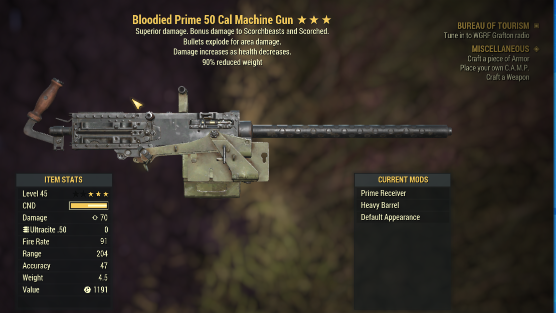 Bloodied  50 Cal Machine Gun (BE90  Bloodied Explosion And Weapon weights reduced by 20%)