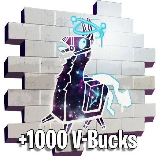 Fortnite - Galaxy Llama Spray + 1000 vBucks