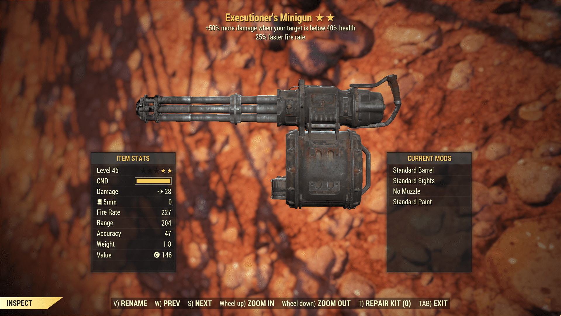 ★★ Executioners FFR Minigun | 25% Faster Fire Rate | MAX LVL | FAST DELIVERY |