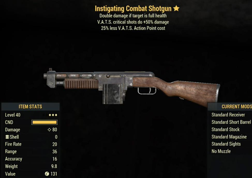 Instigting Combat Shotgun- Level 40