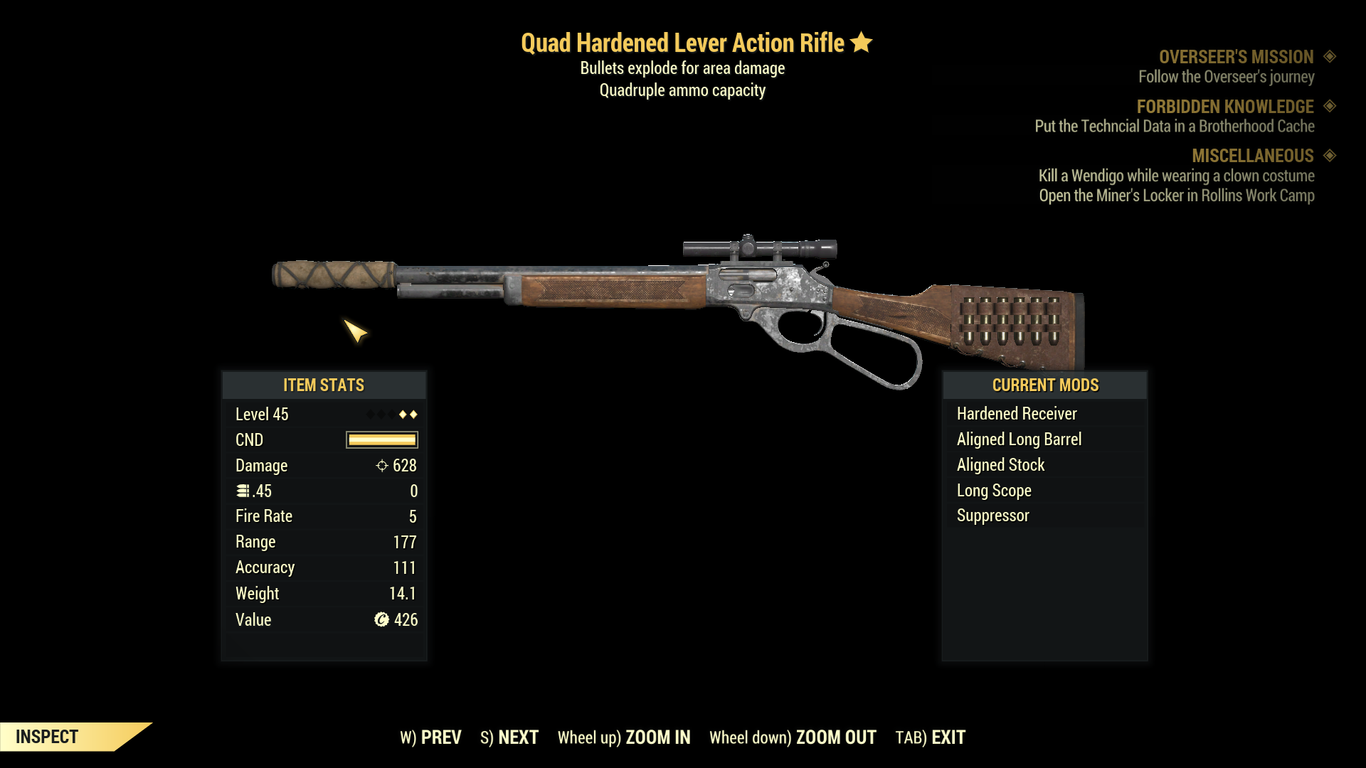 ★★ Quad Explosive Lever Action Rifle | FULLY MODIFIED | FAST DELIVERY | 20 BULLETS |