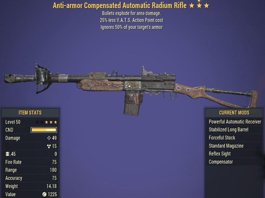 [PC] Anti-Armor  Explosive Radium Rifle [25% Less VATS AP]